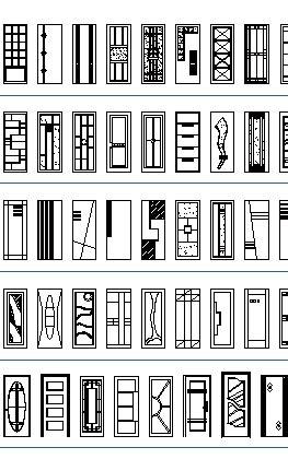 Doors CAD Blocks, thousand dwg files: simple doors, double