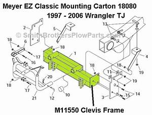 Meyer Mounting Carton 18080 Clevis Only