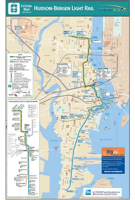 nj light rail map hoboken transportation mile square homes keller
