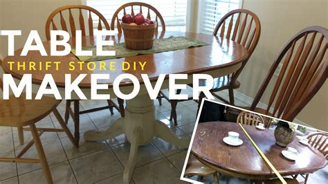 refinish  kitchen dining table vintage shabby