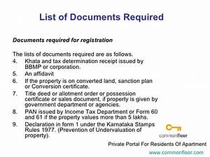 Registration of property for Documents required property registration