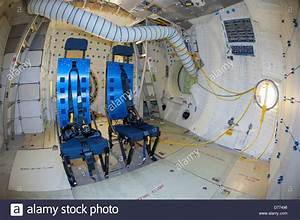 Mid-deck or lower deck Space Shuttle Atlantis showing ...