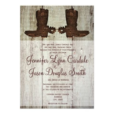 85 best Rustic Country Western Wedding Invitations images