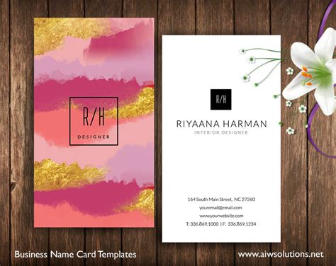 premade business card template  card template