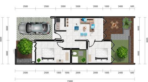 contoh denah rumah minimalis oma indah kapuk karya rakhmat