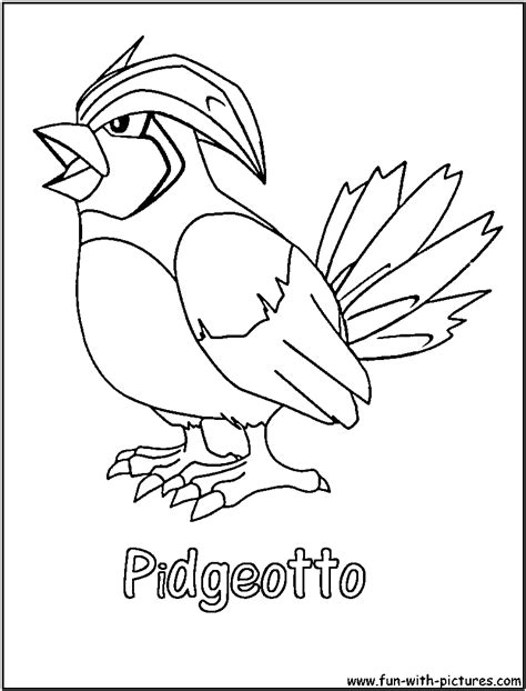 cloringpages pokemon pidgeotto colouring pages dragon