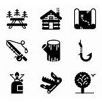 Outdoor Icon Icons Camp Packs Activities Vector