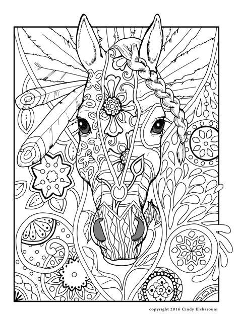Kleurplaat Mandela Paarden by Kleurplaten Mandala Paarden Artismonline Nl