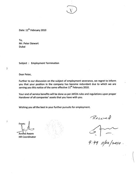 termination letter template contract termination letter format uae use template 25073