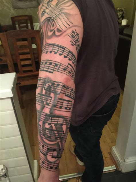 further work on my sleeve tattoo music tattoo sleeves