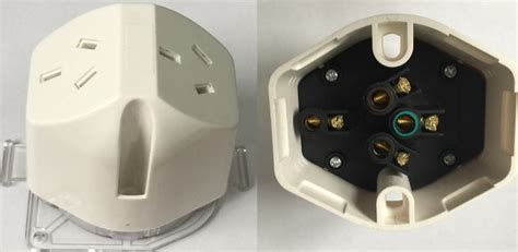 ls with electrical outlets in base double plug base 10 white sparkelec spb2