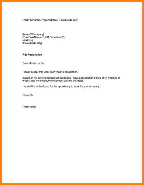 resignation letter week notice letter flat
