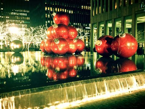Christmas Decorations In New York City Stock Photo