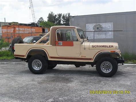 scrambler jeep years sell used 1983 cj8 scrambler jeep in clearwater florida