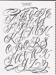 Images For > Fancy Cursive Fonts Alphabet For Tattoos ...