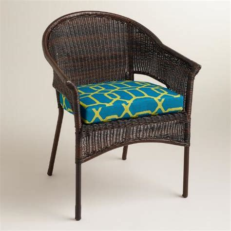 blue and green gate outdoor gusset chair cushion world