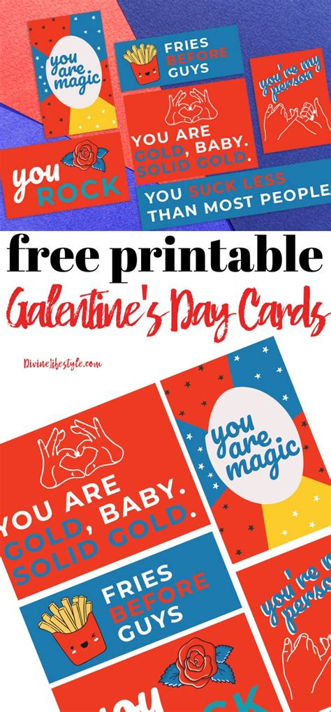 Galentine's Day Free Printables for Valentine's Day Cards ...