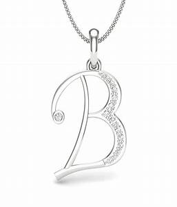 aamanat letter b pendant in sterling silver austrian With letter b diamond pendant
