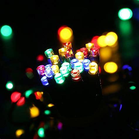 qedertek 200 led solar powered christmas lights 72ft