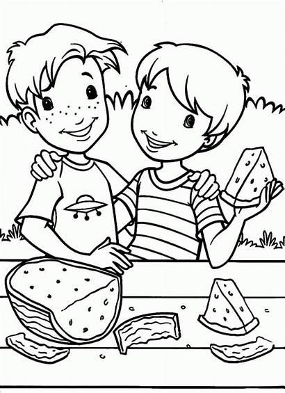Coloring Holly Pages Eating Watermelon Hobbie Popular