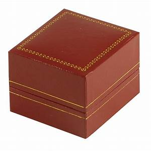 Cartier Style Ring Box Leatherette Red Jewellery Box Suppliers