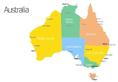 australia map geo map australia  zealand