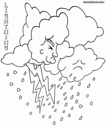 Coloring Lightning Rain Lightening Mickey