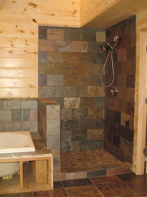 Tile Bathroom Walls Or Not by Best 25 Shower No Doors Ideas On Bathroom