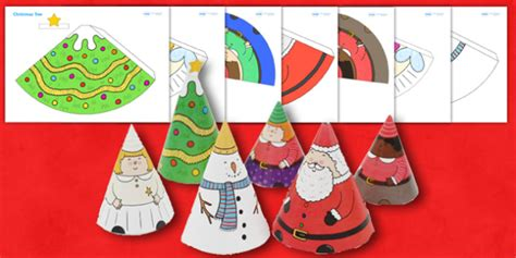cone template twinkl christmas cone people christmas cone people crafts art