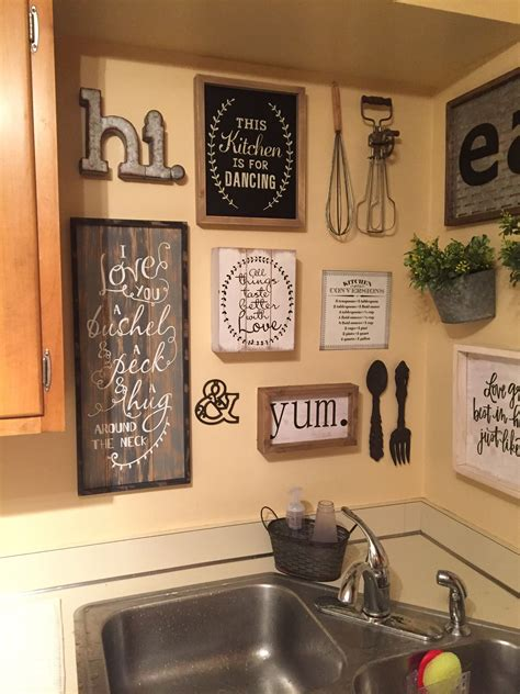 See more ideas about farmhouse decor, decor, vintage farmhouse bathroom. Like the antique whisks | Rustic kitchen decor, Farmhouse kitchen decor, Rustic kitchen design