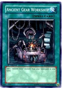 yugioh ancient gear deck ancient gear workshop structure deck machine re volt