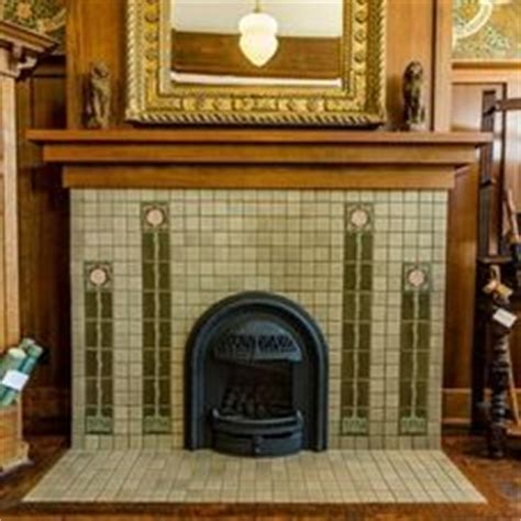 fireplaces on tile craftsman and arts and crafts