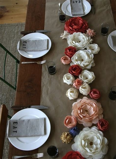 paper centerpieces for tables wedding table runner ideas