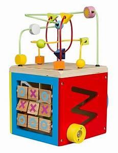 Cube En Bois Bébé : boulier cube d activit s en bois 5 en 1 b b achat vente ~ Melissatoandfro.com Idées de Décoration