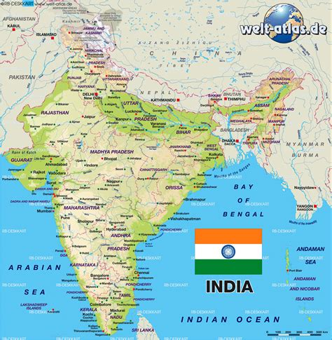 map  india country welt atlasde