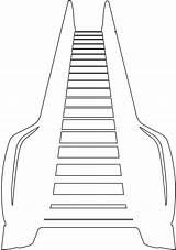 Escalator Outline Roltrap Kleurplaten Silhouetten Silhouette sketch template