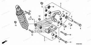 Honda Motorcycle 2009 Oem Parts Diagram For Rear Shock