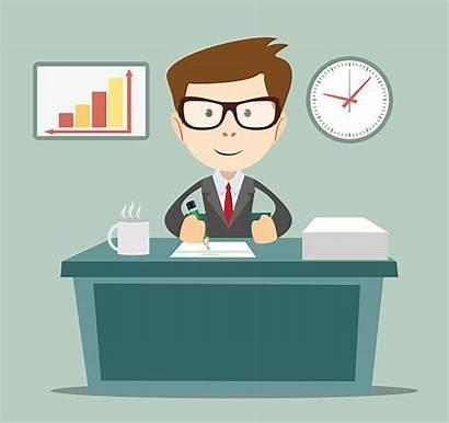 Manager Bank Clipart Banker Vector Illustrations Clip