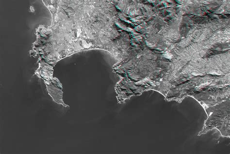 space images cape town south africa anaglyph landsat