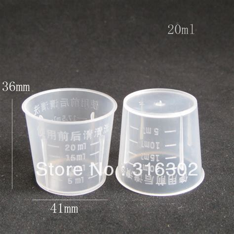 1 cup to ml aliexpress com buy diy 20ml measuring cup clear measuring cup plastic graduated cup from