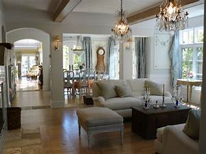 Open floor plan shabby chic living room san for What kind of paint to use on kitchen cabinets for jeu sur papier