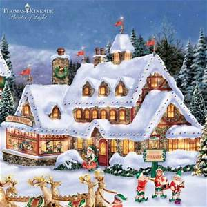 Thomas Kinkade Handcrafted North Pole Village Collection