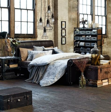 rustic modern chic living room 33 industrial bedroom designs that inspire digsdigs