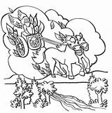 Elijah Chariot Coloring Fire Pages Heaven Prophet Bible Goes Crafts Chariots Printable God Sunday Carmel Mount Colouring Fiery Template Coloringsun sketch template