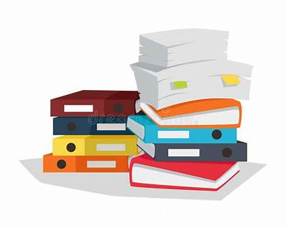 Documents Vector Flat Stack Illustration Paperwork Papers
