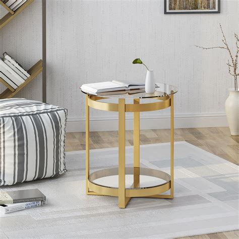 Also set sale alerts and shop exclusive offers only on shopstyle. Tate Tempered Glass Coffee Table | Round | Modern | Iron Frame, Brass Finish - Walmart.com