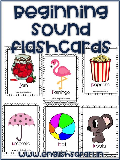 beginning sounds flashcards lesson planned