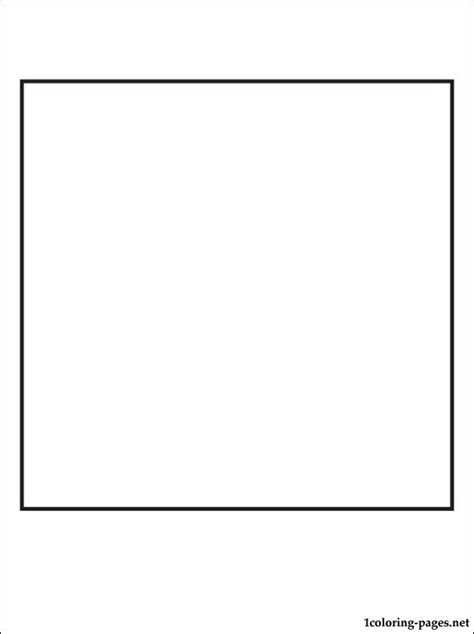 square coloring page coloring pages