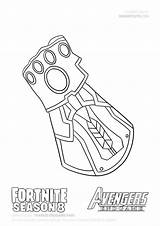 Coloring Infinity Iron Draw Thanos Fortnite Marvel War Gauntlet Endgame Colorir Drawing Glove Drawings Step Avengers Kolorowanki Drawitcute Dibujo Printable sketch template