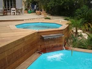 Piscine hors sol jacuzzi for Terrasse en bois pour piscine hors sol 8 fabricant piscine et jacuzzi spa sur mesure 100 bois 224